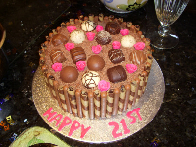 21st Birthday Cake For Chocolate Lovers