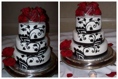 Black and White Wedding Cakes | http://www.cake-decorating-corner.com/