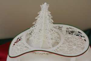 close-up of filigree tree