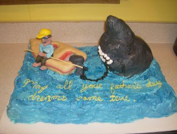 fishing father cake