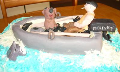 Gone fishing with my dog cake