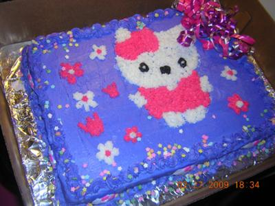 hello kitty with pink dress cake
