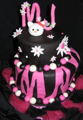 hello kitty topsy turvy cake