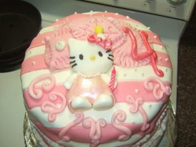 caly's cozy hello kitty birthday cake