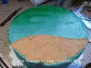 creating edible sand with brown sugar