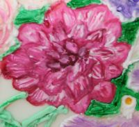 painting royal icing rose