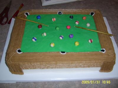 pool table cake ideas 2