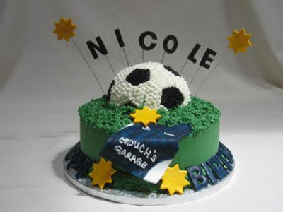 Cake Decorating Ideas For Soccer : Soccer Cakes http://www.cake-decorating-corner.com/
