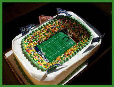 Cake Decorated Like Football Field : Football Cakes http://www.cake-decorating-corner.com/