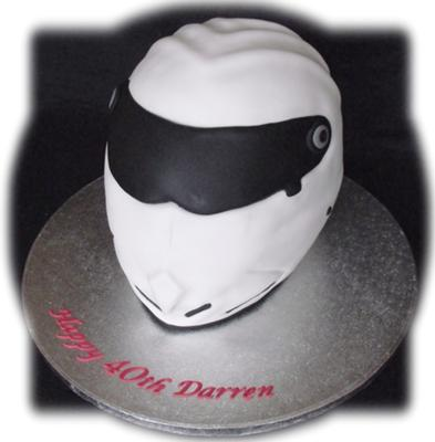 Stigs racing helmet cake