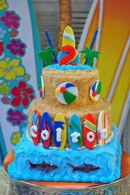 Surfing Cake And Cupcakes Http Www Cake Decorating