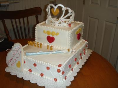 sweet 16 princess birthday cake