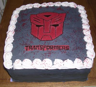 transformers face cake