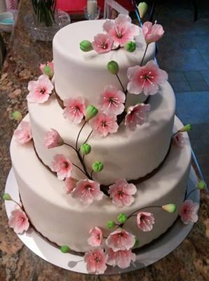 Cherry Blossom Wedding Cake | Cherry Blossom Cakes Http Www Cake Decorating Corner Com