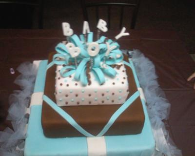 Cake Decorating Ideas Baby Boy : Gift Box Baby Shower Cakes http://www.cake-decorating ...