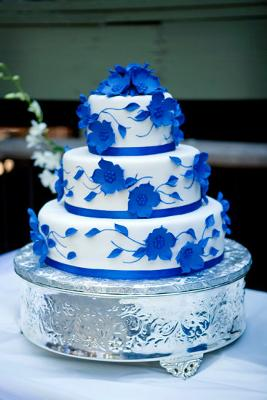 Blue wedding cakes httpcake decorating corner dramatic blue wedding cake junglespirit Gallery