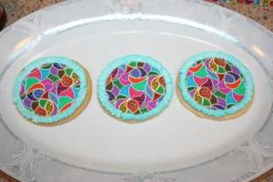 cookies decorated with icing sheets using edible ink printers