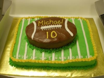 buttercream football cake