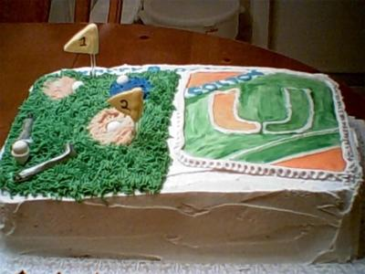 golf and football cake