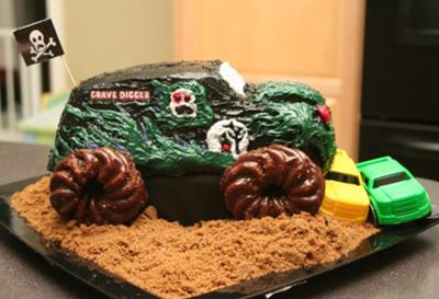 Monster Truck Cakes httpwwwcakedecoratingcornercom
