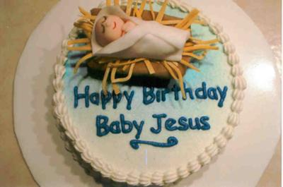 happy birthday baby Jesus cake