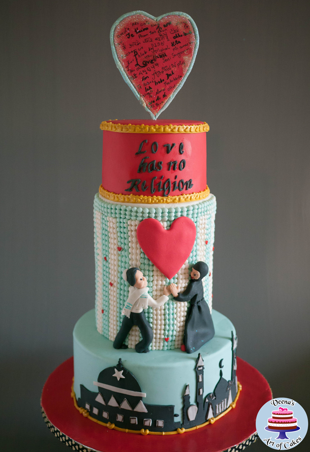 international wedding cake