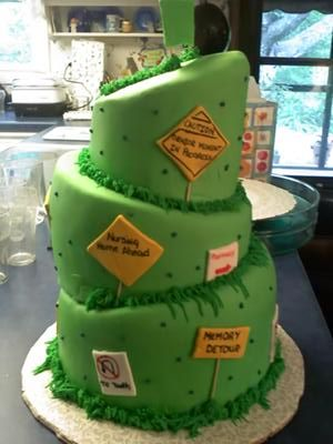 back of downhill cake
