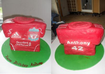 10++ Liverpool Shirt Birthday Cake