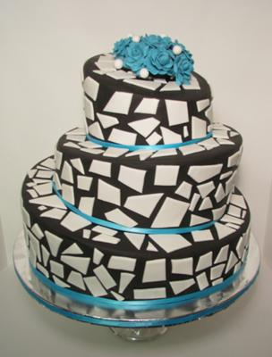 mosaic wedding cake