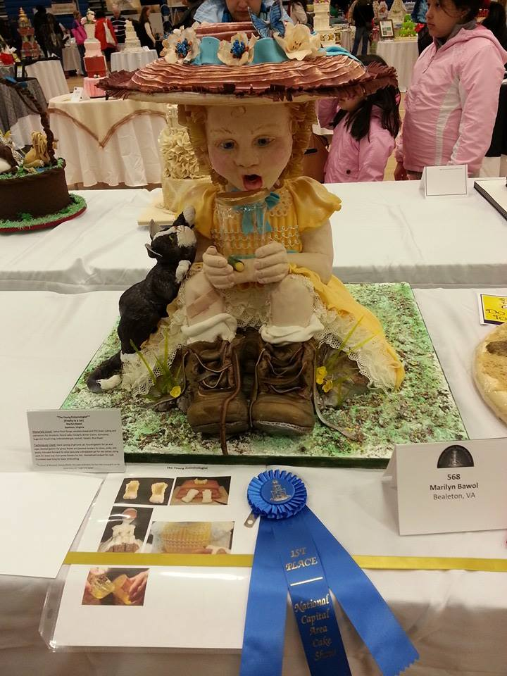 girl with firefly cake by Marilyn Bawol