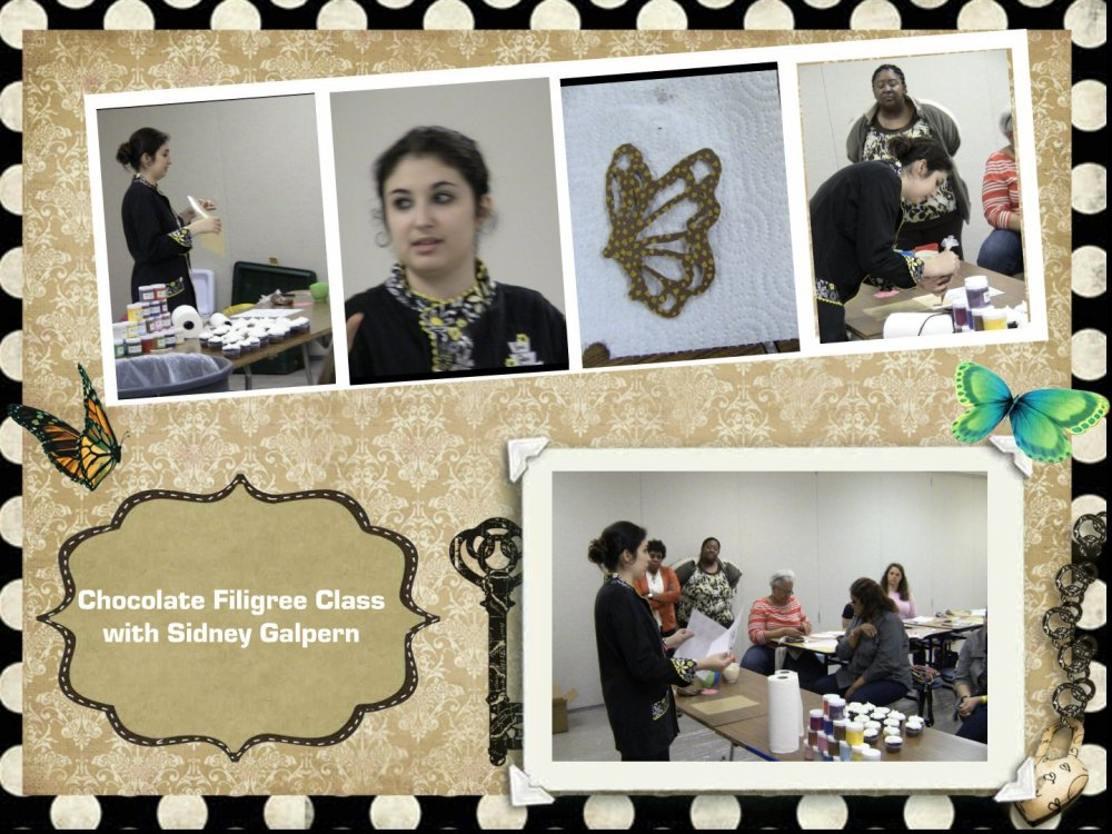 filigree chocolate class with Sidney Galpern