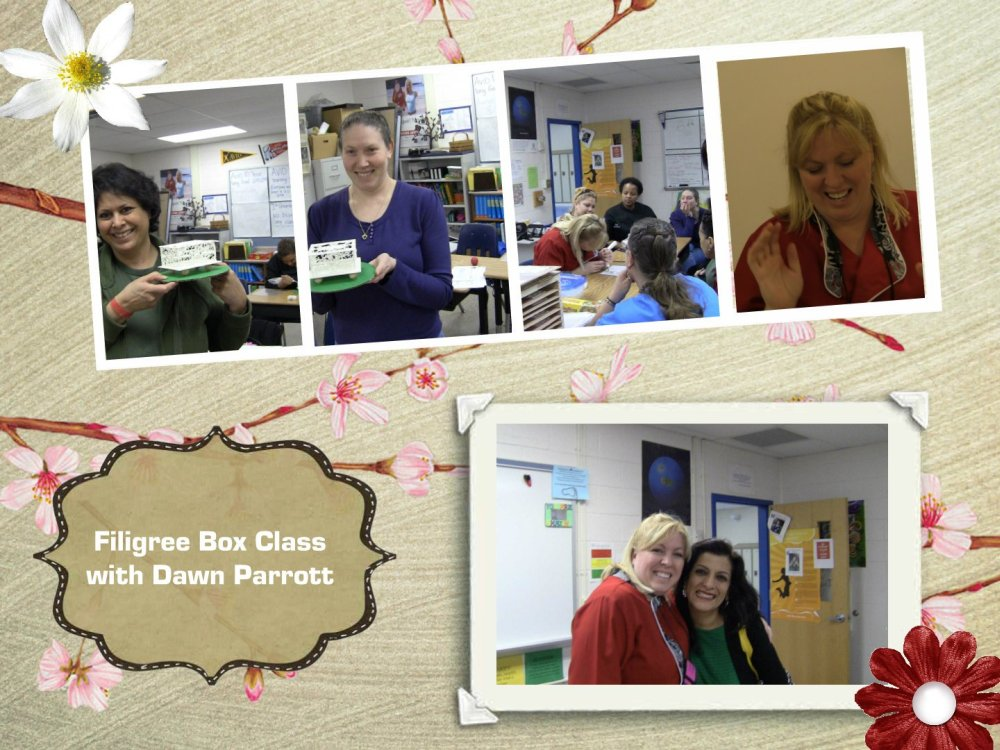 filigree box class with Dawn Parrott