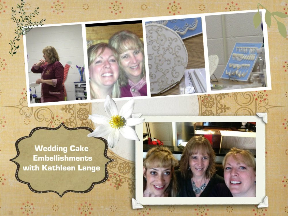 wedding cake embellishments class with Kathleen Lange