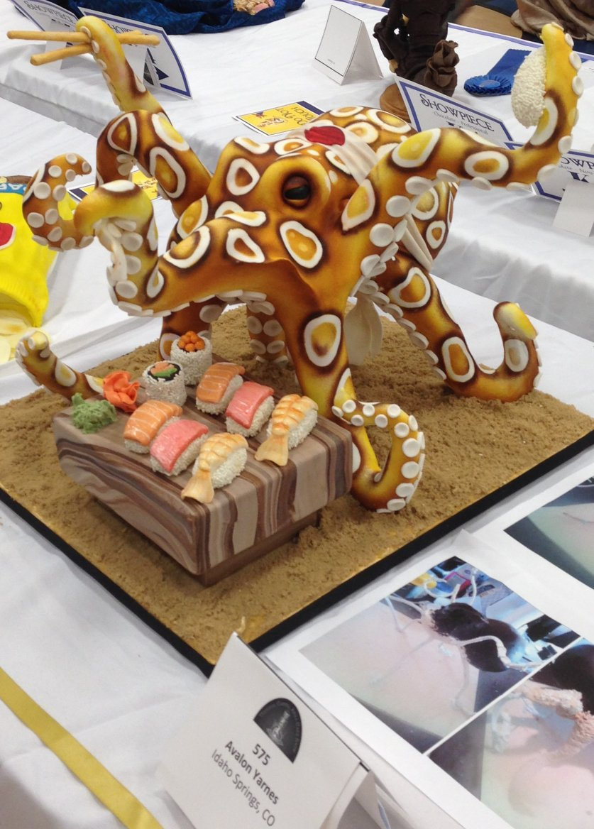 octopus cake by Avalon Yarnes