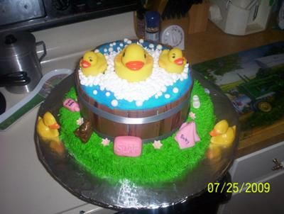 rubber duck in a tub cake