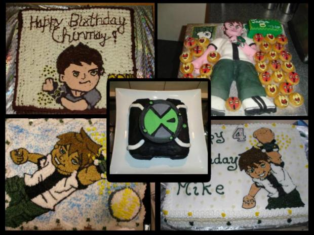 collection of Ben 10 cakes