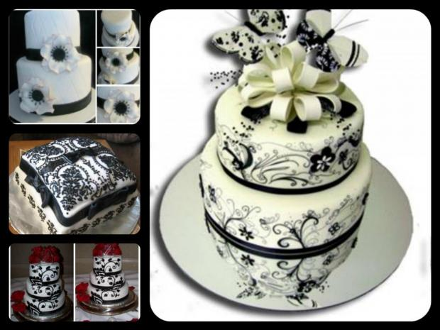 Black And White Wedding Cakes Http Www Cake Decorating