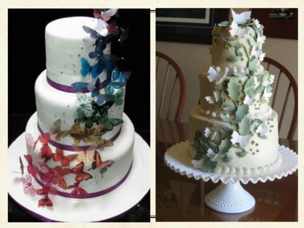 butterfly wedding cakes