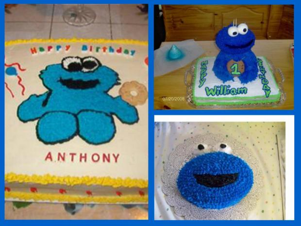 Cookie Monster Cakes httpwwwcakedecoratingcornercom