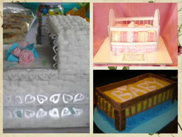 crib and bassinet cakes