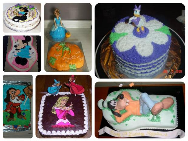 Disney cartoon cakes