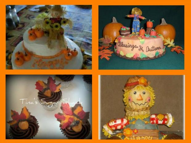 collection of fall harvest cakes