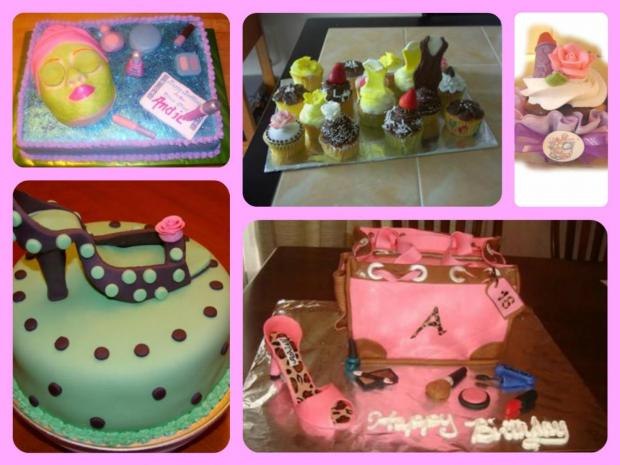 fashion cakes and cupcakes