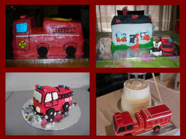 fire truck cakes collection