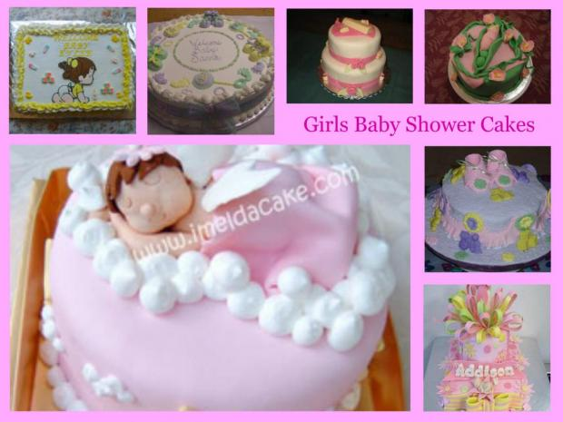 Girls Baby Shower Cakes Collection