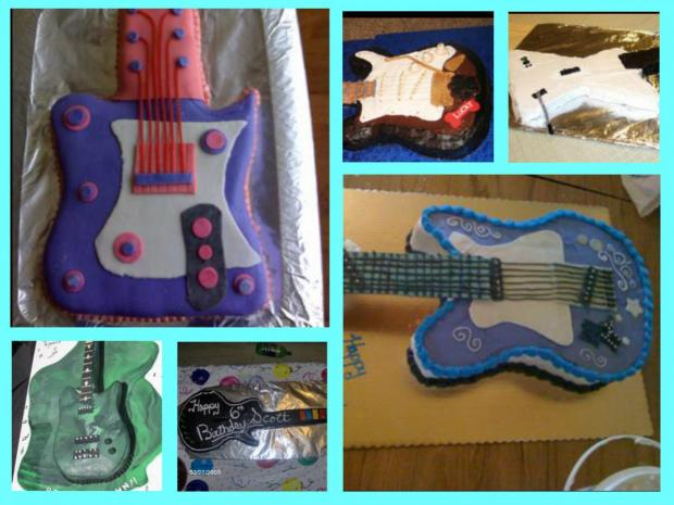 guitar cakes collection