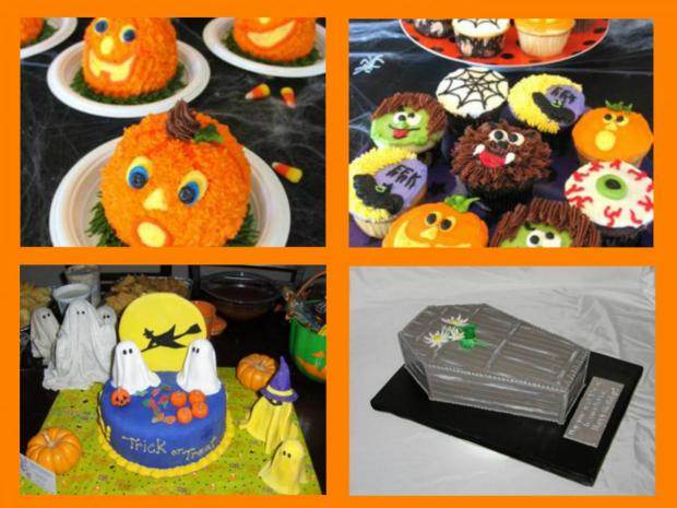 collection of halloween cakes
