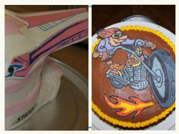 Motorcycle Cakes