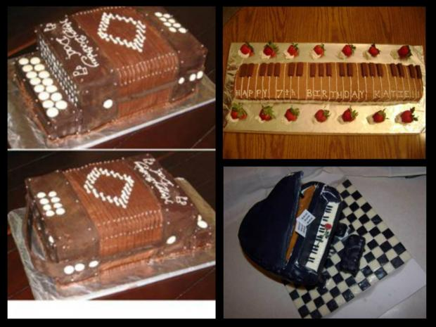 Musical Instrument Cakes http://www.cake-decorating ...