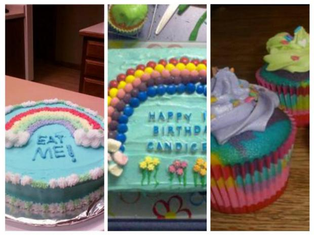collection of rainbow cakes